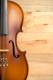 Violin on wooden background Stock Image