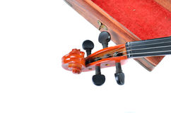 Violin with wooden box Royalty Free Stock Image
