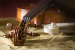Violin workshop 2. A violin in workshop Royalty Free Stock Images