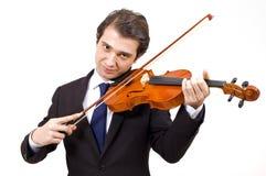 Violin young player Royalty Free Stock Photos