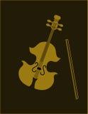 Violine auf balck. Lizenzfreies Stockfoto