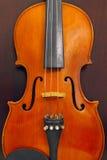 Violine auf hölzernem Hintergrund Lizenzfreie Stockfotos
