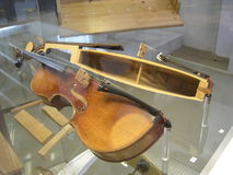 Violine dwarsdoorsnede Royalty-vrije Stock Fotografie