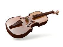 Violine getrennt auf weißem Hintergrund stock abbildung