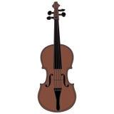 Violine getrennt auf weißem Hintergrund Lizenzfreies Stockfoto