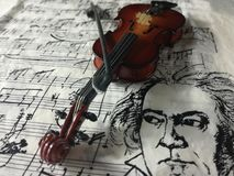 Violine nawleczony instrument muzyczny Zdjęcia Royalty Free