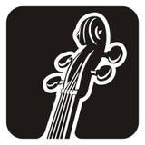 Violine pegbox Lizenzfreie Stockfotos