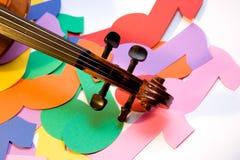 Violine und Anmerkungen Stockbild