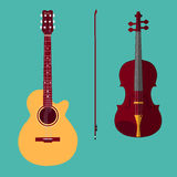 Violine und Gitarre stock abbildung
