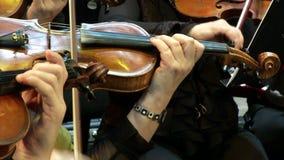 Violine und Hände stock video footage