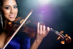 Violinen-Frau lizenzfreies stockfoto