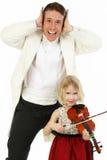 Violinen-Lektion Stockfotografie