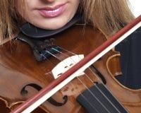 Violinen-Spiel Lizenzfreies Stockfoto