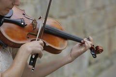 Violinen-Spieler Lizenzfreies Stockfoto