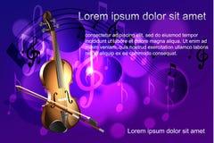 Violinen- und Musikanmerkungen Stockbild