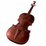 Violinen unter dem weißen Hintergrund Stockbild