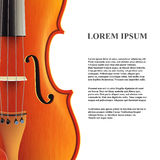 Violinenfahne Vektor Lizenzfreie Stockfotografie