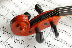 Violinenkopf Lizenzfreies Stockfoto