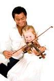Violinenlektionen lizenzfreies stockbild