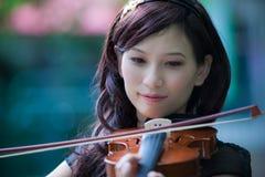 Violinenspieler Stockfotografie