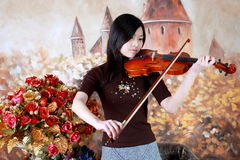 Violinenspieler Lizenzfreie Stockbilder
