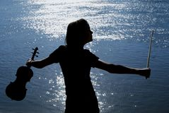 Violinenspieler Lizenzfreie Stockfotografie