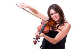 Violinenspieleraufstellung Stockbild