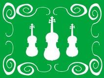 Violines blancos Fotografía de archivo libre de regalías