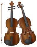 Violines con la ilustración del arqueamiento stock de ilustración