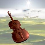 Violini con priorità bassa piacevole Fotografia Stock