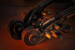 Violini nuovi e vecchi Fotografia Stock Libera da Diritti
