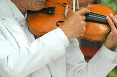 Violinist. Performing in concert Stock Images