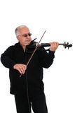 Violinist. And composer Robert Hovhannesyan on white background Stock Image