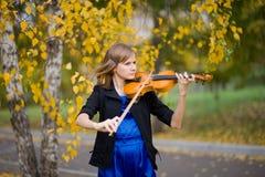 Violinist Royaltyfri Foto