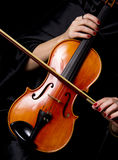 Violinist Hands Bow Viloin String Instrument Royalty Free Stock Photo