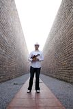 Violinist. A male violinist holding the violin Royalty Free Stock Photography