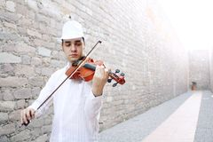 Violinist. A male violinist playing the violin Royalty Free Stock Photography