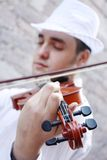 Violinist. A male violinist playing the violin Royalty Free Stock Photo