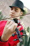 Violinist. A male violinist playing the violin Stock Image