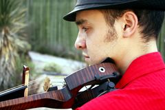 Violinist. A male violinist playing the violin stock photo
