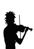 Violinist. A illustration of a violinist stock illustration