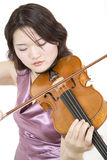Violinist 6. Playing with gusto Royalty Free Stock Photo