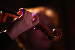 The violinist Stock Photography