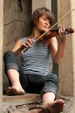 Violinist stockfotografie