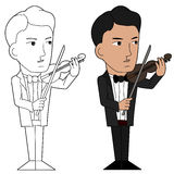 Violinist cartoon Royalty Free Stock Photography