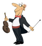 Violinist cartoon Royalty Free Stock Photo