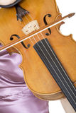 Violinist closeup 2 stock photos