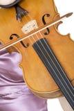 violinist för 2 closeup arkivfoton