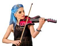 Violinist för musikaktörflicka Arkivbilder