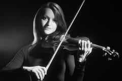 Violinist för musiker för fiolspelare klassisk Arkivfoton